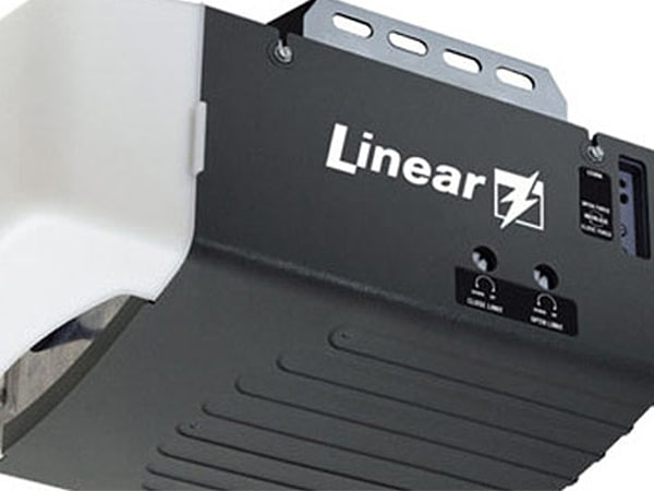 linear garage door opener brand