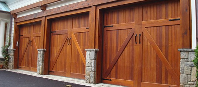 Custom Faux Wood Garage Doors in Macomb County