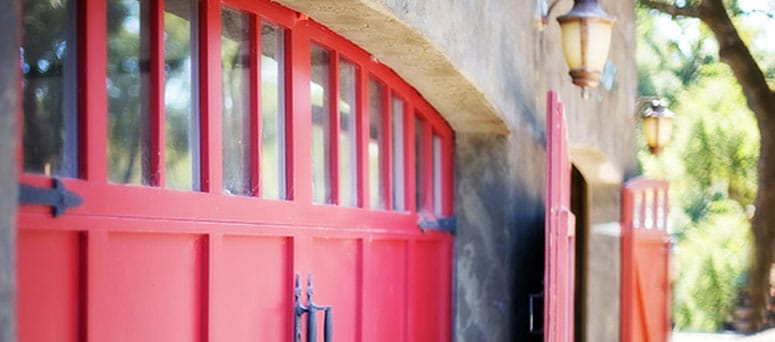 Red Garage Doors in Prescott