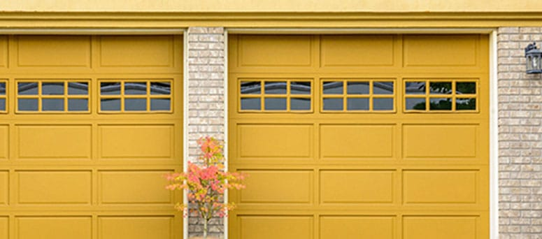 Yellow Garage Doors in Mesa